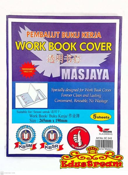 Work Book Cover 265mmx190mm Book Wrapper Stationery Johor Bahru (JB), Malaysia Supplier, Suppliers, Supply, Supplies | Edustream Sdn Bhd