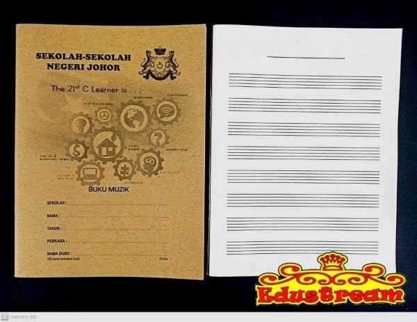 Buku Muzik 80 Pages Exercise Book Writing & Correction Stationery & Craft Johor Bahru (JB), Malaysia Supplier, Suppliers, Supply, Supplies | Edustream Sdn Bhd