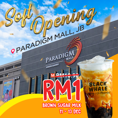 Paradigm Mall Johor Bahru Opening Soon on 10 December 2020