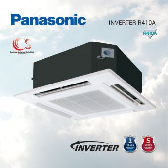 (S-18PU2H5) PANASONIC INVERTER R410 BIG CASSETTE 1.0HP - 4.0HP Air Conditioner/ Aircond