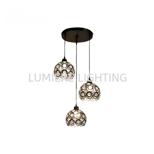 Crystal 3 in 1 Pendant Light