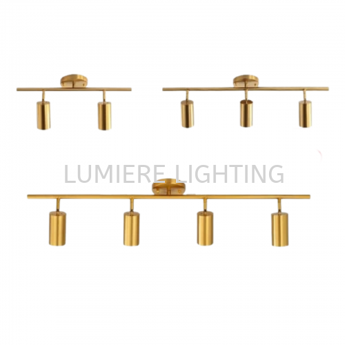 Nordic Gold Ceiling Light or Wall  64104/2,3,4 - GU10