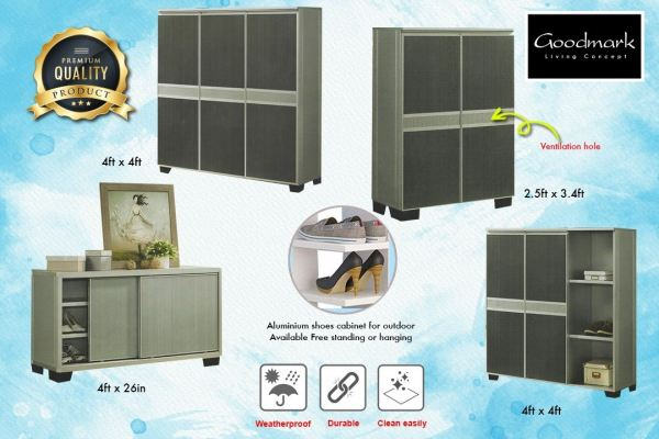 Aluminium shoe cabinet for outdoor.  Promotions Melaka, Malaysia Supplier, Suppliers, Supply, Supplies | GOODMARK FURNITURE CENTRE SDN BHD