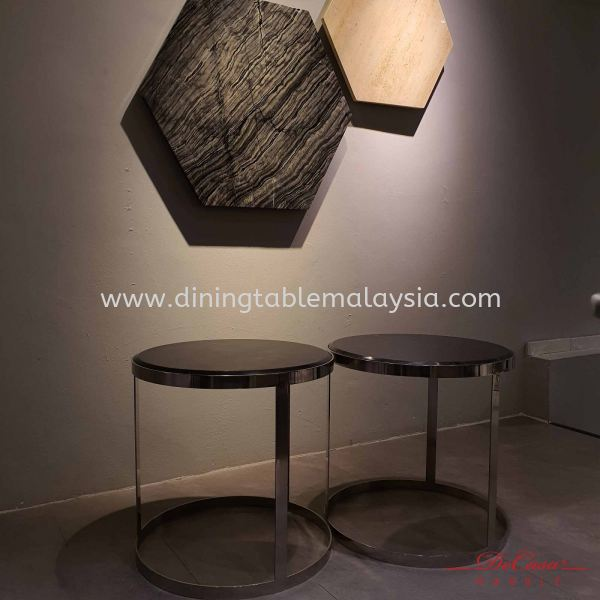 Round Marble Side Table   only sell in pairs   (Cash & Carry) RM1,500 Marble Coffee Table Promotion / Clearance Item  Malaysia, Selangor, Kuala Lumpur Supplier, Suppliers, Supply, Supplies   DeCasa Marble Sdn Bhd