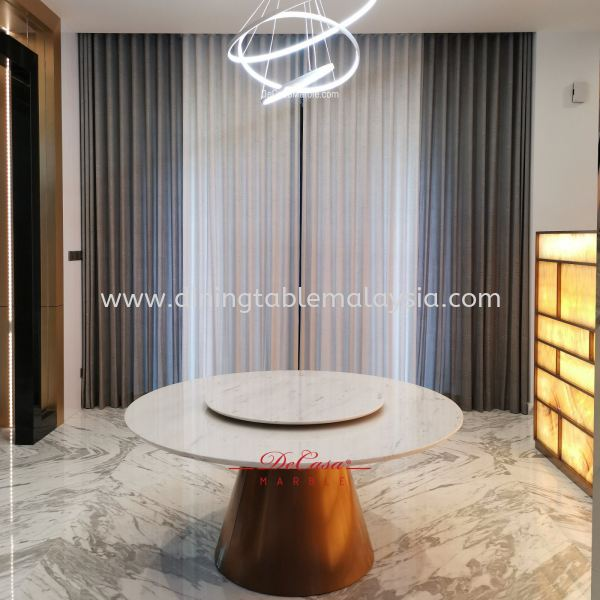 Majestic Round Marble Dining Table | Sivec White | Dia6ft 10 seaters Marble Dining Table Malaysia, Selangor, Kuala Lumpur Supplier, Suppliers, Supply, Supplies | DeCasa Marble Sdn Bhd