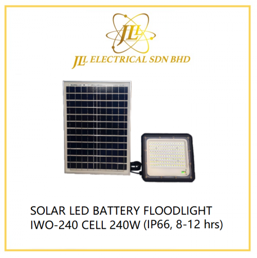 SOLAR LED BATTERY FLOODLIGHT IWO-240 CELL 240W