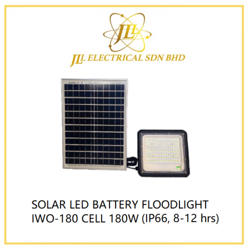 JLUX SOLAR LED BATTERY FLOODLIGHT IWO-180 CELL 180W