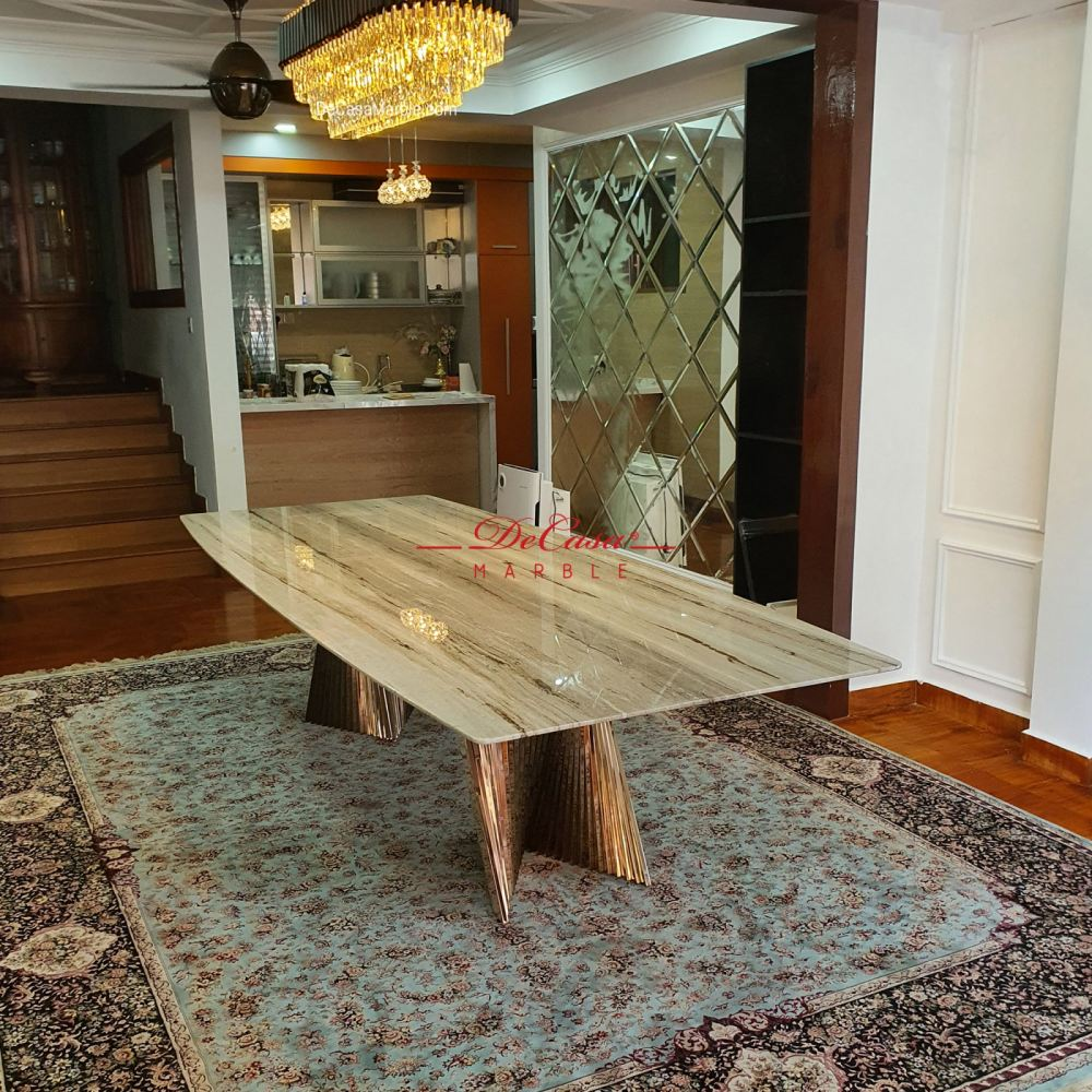Luxury marble dining table | 10ft | Palisandro