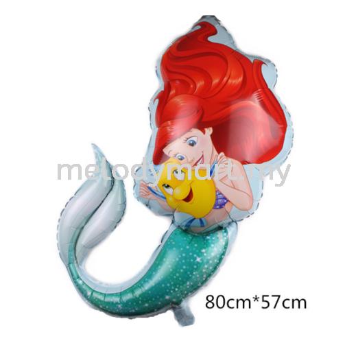 Foil 80*57cm - Mermaid