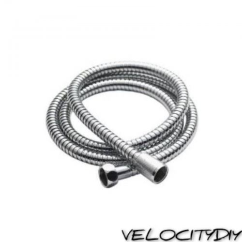 DOMINO 1.2m STAINLESS STEEL SHOWER HOSE (BRASS NUT)