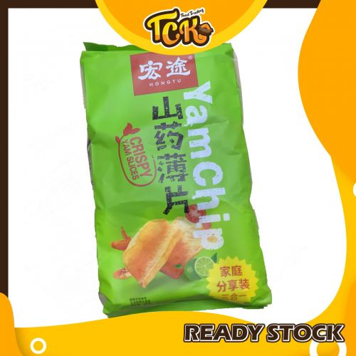 HONGTU YAM CHIP FAMILY PACK 3 IN 1 宏途 山药薄片 家庭分享装 三合一