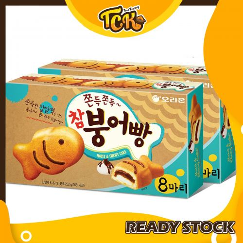 KOREA ORION FISH CAKE WITH REDBEAN MOCHI FILLING INSIZE BIG FAMILY PACKAGE 韩国好丽友小鱼蛋糕