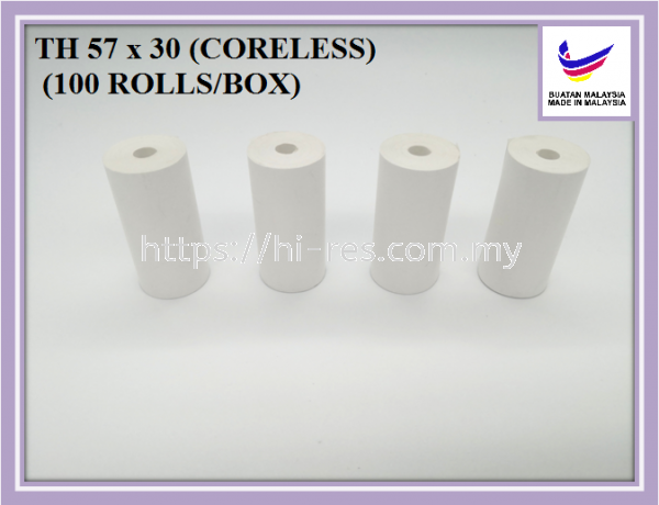 Thermal Paper 57 x 30 Coreless Thermal Receipt Paper Malaysia, Kuala Lumpur (KL), Selangor Supplier, Manufacturer, Supply, Supplies   Yu Fook Paper Sdn Bhd