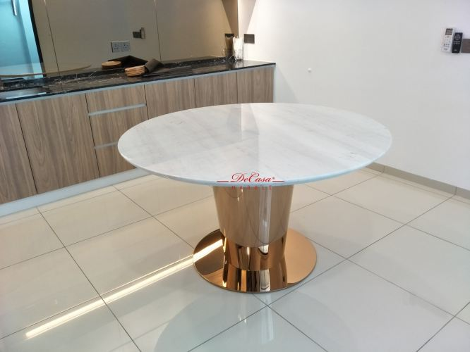 Luxury White Marble Dining Table | Stain Free | 6 Seaters