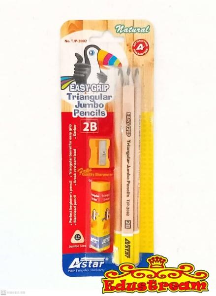 Astar 2B Triangular Jumbo Pencils Value Pack Stationery Set Stationery & Craft Johor Bahru (JB), Malaysia Supplier, Suppliers, Supply, Supplies | Edustream Sdn Bhd
