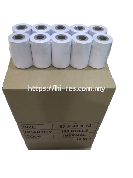 Thermal Paper 57 x 40 x 12 Thermal Receipt Paper Malaysia, Kuala Lumpur (KL), Selangor Supplier, Manufacturer, Supply, Supplies   Yu Fook Paper Sdn Bhd