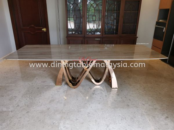 Luxury marble dining table | 10ft | Palisandro Marble Dining Table Malaysia, Selangor Supplier, Wholesaler | DeCasa Marble Sdn Bhd