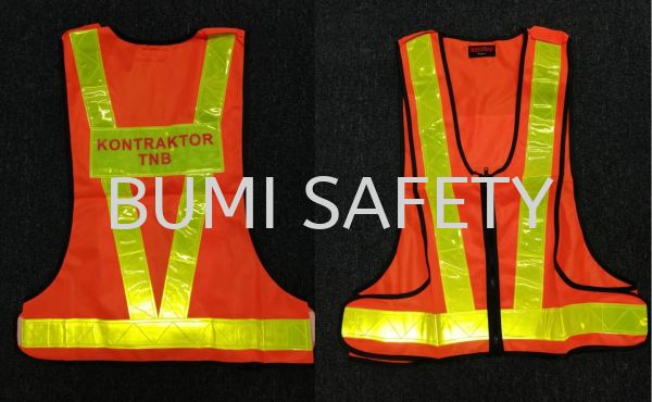 Safety Vest Kontraktor TNB Safety Vest Safety Vest / Traffic Control Selangor, Kuala Lumpur (KL), Puchong, Malaysia Supplier, Suppliers, Supply, Supplies | Bumi Nilam Safety Sdn Bhd