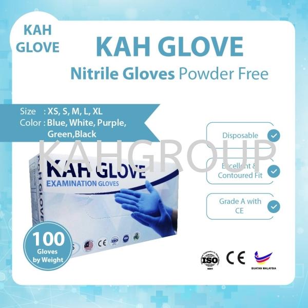 KAH Glove Nitrile Glove Powered Free @ CE Certified Kah Glove ( Nitrile & Latex ) Selangor, Malaysia, Kuala Lumpur (KL), Johor Bahru (JB), Penang, Perak Supplier, Suppliers, Supply, Supplies   Kualiti Alam Hijau (M) Sdn Bhd