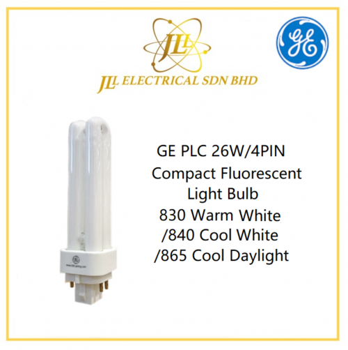 GE PLC 26W/4PIN  Compact Fluorescent Light Bulb 830 Warm White/840 Cool White/865 Cool Daylight