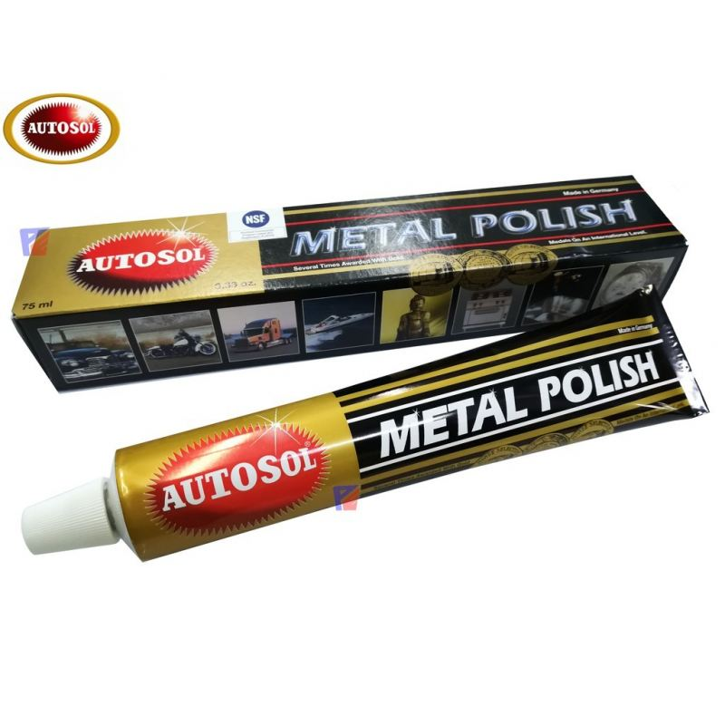 Autosol Metal Polish Rust Remover Chrome Cleaner (75 ML)