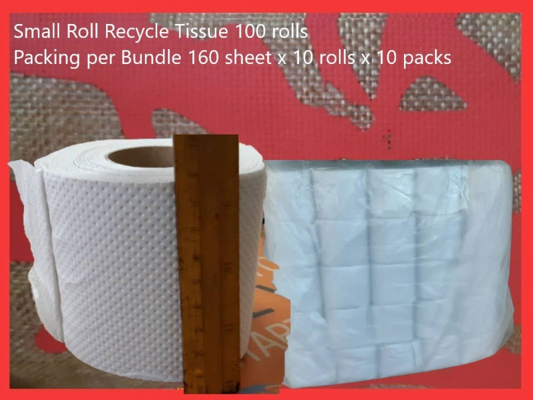 small roll recycle tissue 100 rolls