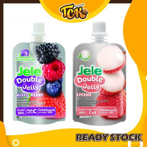 THAILAND JELE DOUBLE JELLY HIGH VITAMIN C & E  泰国双重吸吸果冻