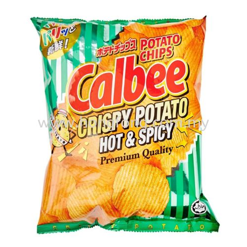 CALBEE POTATO CHIPS-PREM HOT AND SPICY 80G