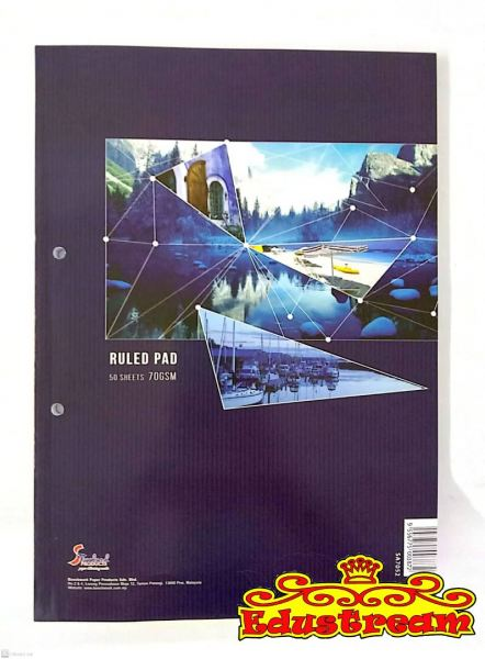 RULED PAD (S/BOUND) A4 70GSM 50'S Sketch Book Stationery Johor Bahru (JB), Malaysia Supplier, Suppliers, Supply, Supplies | Edustream Sdn Bhd