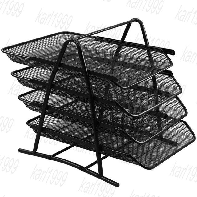 Metal 4 tier Letter tray, Metal 4 tier document tray