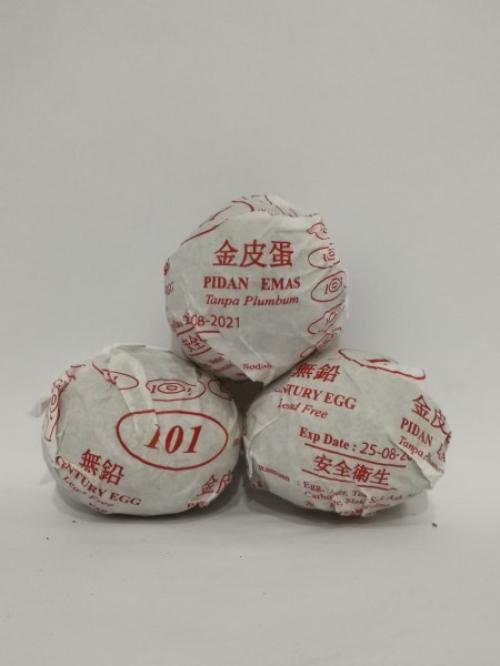 FA.E.FA Century Egg 1's 金皮蛋 Pidan Emas Tanpa Plumbum