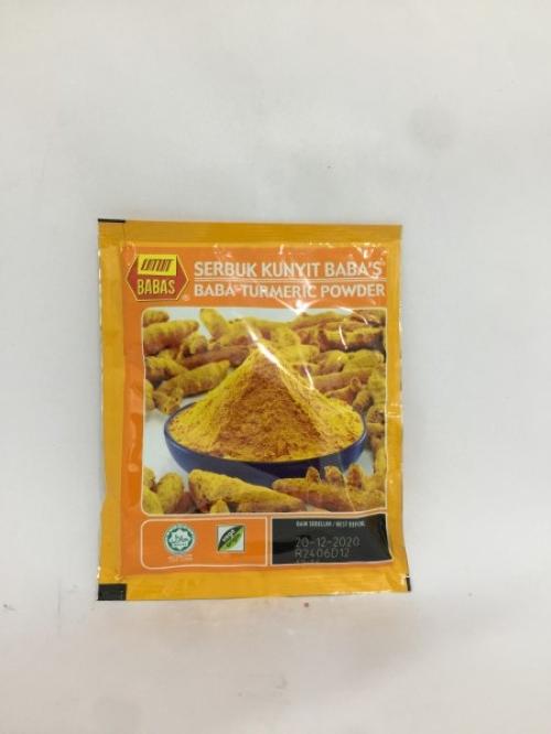 BABA'S Turmeric Powder 25g 黄姜粉 Serbuk Kunyit