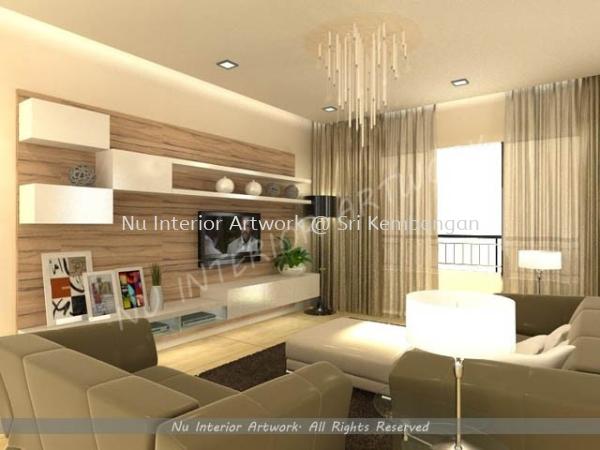 Living Room Living Room Design Selangor, Malaysia, Kuala Lumpur (KL), Seri Kembangan Services   NU Interior Art Work