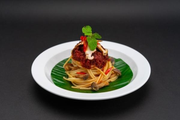Sambal Lemak Spaghetti  V-NION Frozen Plant-Based Ready Meals Penang, Malaysia, Bukit Mertajam Supplier, Suppliers, Supply, Supplies | V-NION FOOD INDUSTRIES SDN BHD