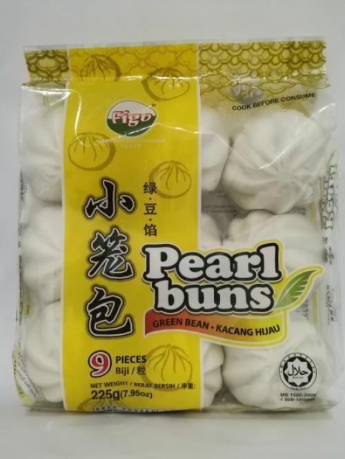 Figo Green Bean Filled Pearl Buns 225g