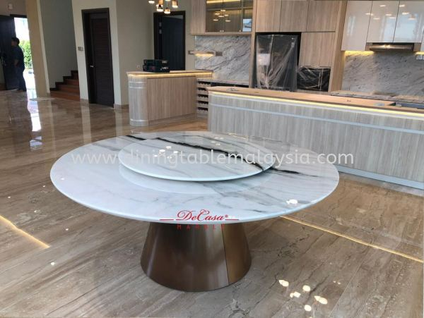 Modern White Marble Table | Panda White | 10 Seaters Marble Dining Table Malaysia, Selangor, Kuala Lumpur Supplier, Suppliers, Supply, Supplies | DeCasa Marble Sdn Bhd