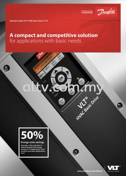 VLT® HVAC Basic Drive FC101 Danfoss Drives Malaysia Malaysia, Selangor, Kuala Lumpur (KL), Subang. Supplier, Suppliers, Supply, Supplies   ALTV Engineering Sdn Bhd