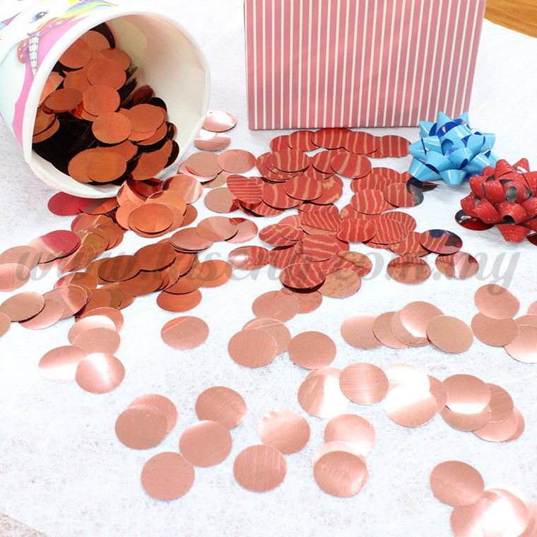 50G Confetti *Round - Rose Gold (AC-CFT-RD-RG50G)