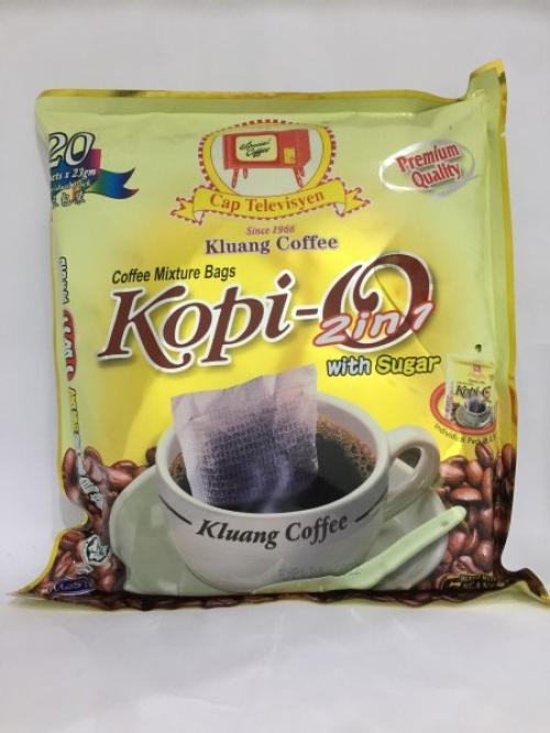 Cap Televisyen Kluang Coffee Mixture Bags Kopi-O 2-in-1 23g x 20 居銮二合一咖啡乌