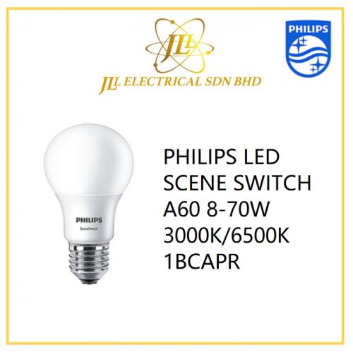 PHILIPS LED SCENE SWITCH A60 8-70W 3000K/6500K 1BCAPR