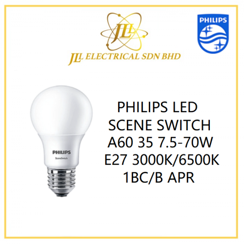 PHILIPS LED SCENE SWITCH A60 35 7.5-70W E27 3000K/6500K 1BC/B APR