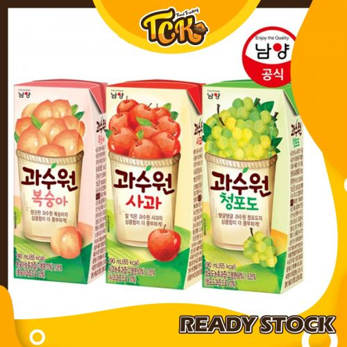 NAMYANG ORCHARD FRUITS JUICE 韩国果汁饮料( 3 PACKS!!)