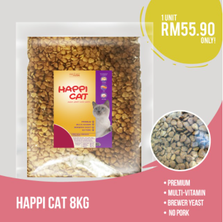 HAPPI CAT CAT FOOD 8kgs