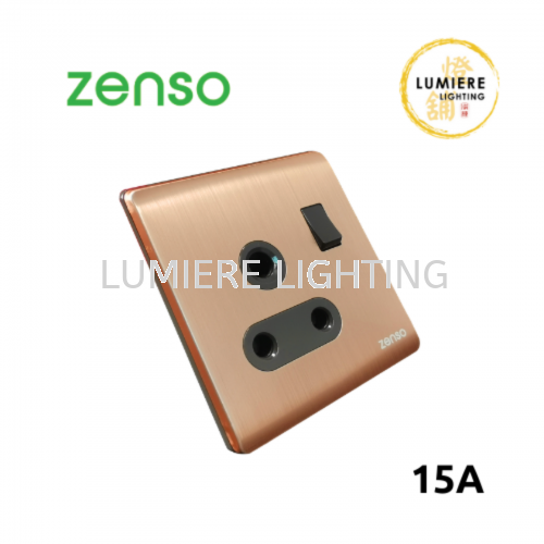 Zenso Switch Metallo 15a Rose Gold