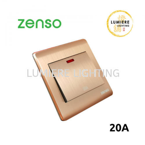 Zenso Switch Metallo 20a Rose Gold