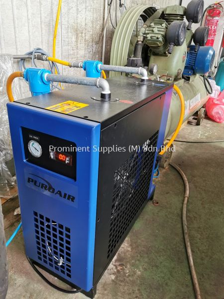 PTD10AC being installed to deliver the dry compressed air from Swan piston 10hp compressor.  PTD Series Refrigerated Air Dryer Refrigerated Air Dryer Penang, Malaysia, Perai Supplier, Suppliers, Supply, Supplies | Prominent Supplies (M) Sdn Bhd