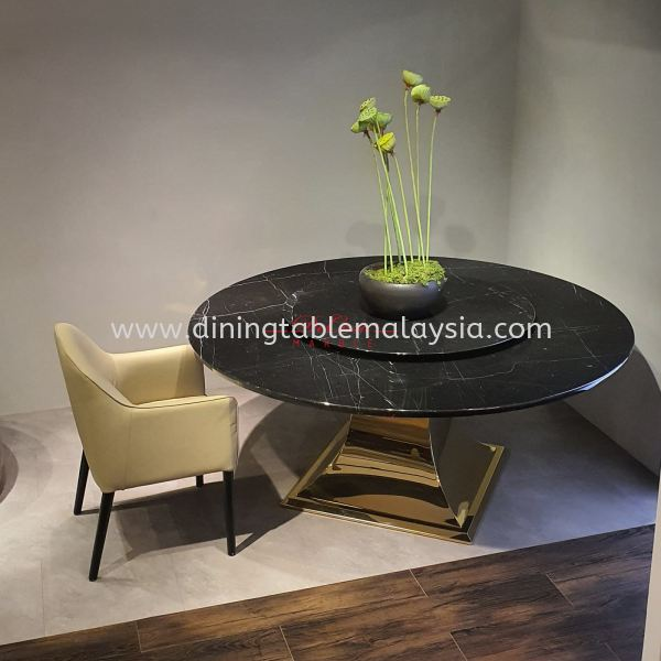 Luxury Black Marble Table | Black Marquina | 10 Seaters Marble Dining Table Malaysia, Selangor, Kuala Lumpur Supplier, Suppliers, Supply, Supplies | DeCasa Marble Sdn Bhd