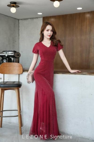 MZ6644 Asymmetrical Hem Bodycon Long Dress Maxi / Evening Gown  DRESS  Selangor, Kuala Lumpur (KL), Malaysia, Serdang, Puchong  | LE ZONE Signature