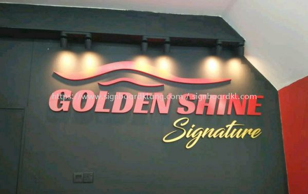 Golden shine indoor 3D box up lettering signage  3D BOX UP LETTERING Klang, Malaysia Supplier, Supply, Manufacturer | Great Sign Advertising (M) Sdn Bhd