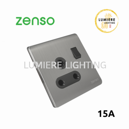 Zenso Switch Metallo 15a Silver